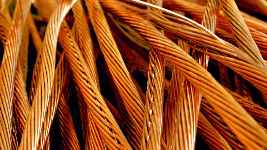 Copper wire. The commodity was trading at five-year lows Wednesday.